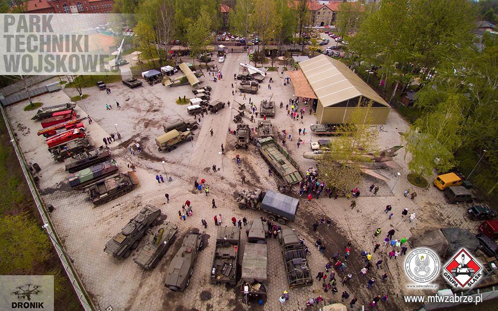 Park Techniki Wojskowej w Zabrzu - widok z góry
